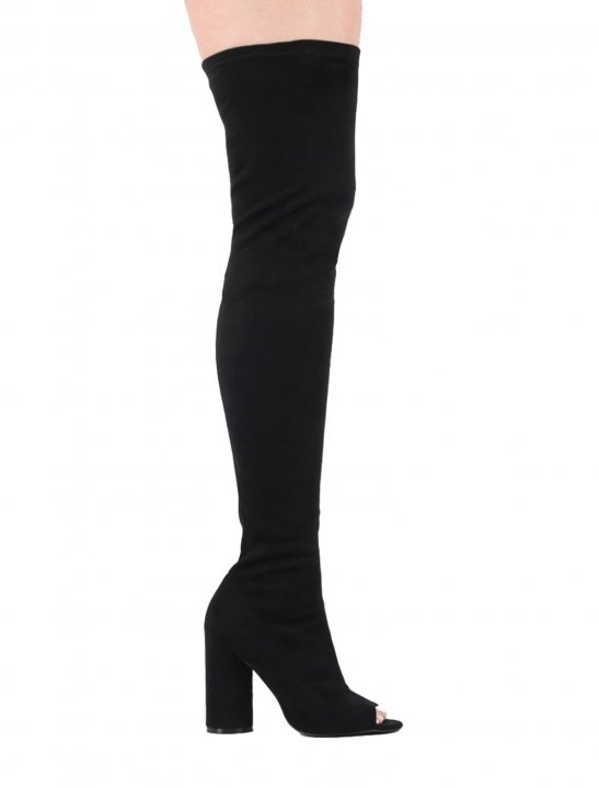 Over The Knee Peep Toe Boots - Lauren Jauregui x Steve Aoki
