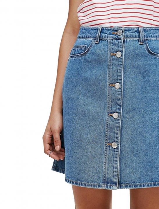 Button Front Denim Skirt Clothing Noisy May