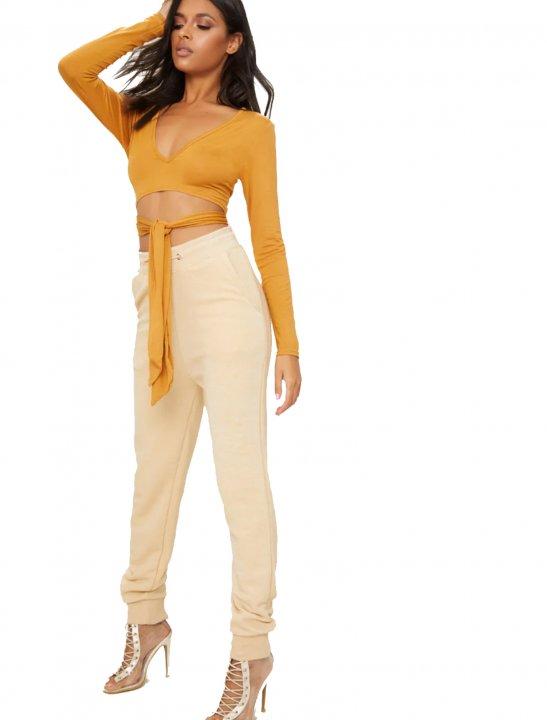 Wrap Front Crop Top Clothing PLT