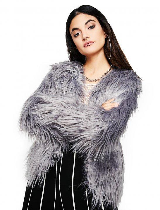 Faux Fur Open Jacket - Bea Miller