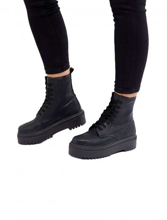 Chunky Lace Up Boots - Bea Miller