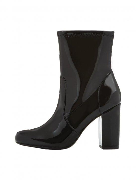 Patent Block Heel Ankle Boot - Bea Miller