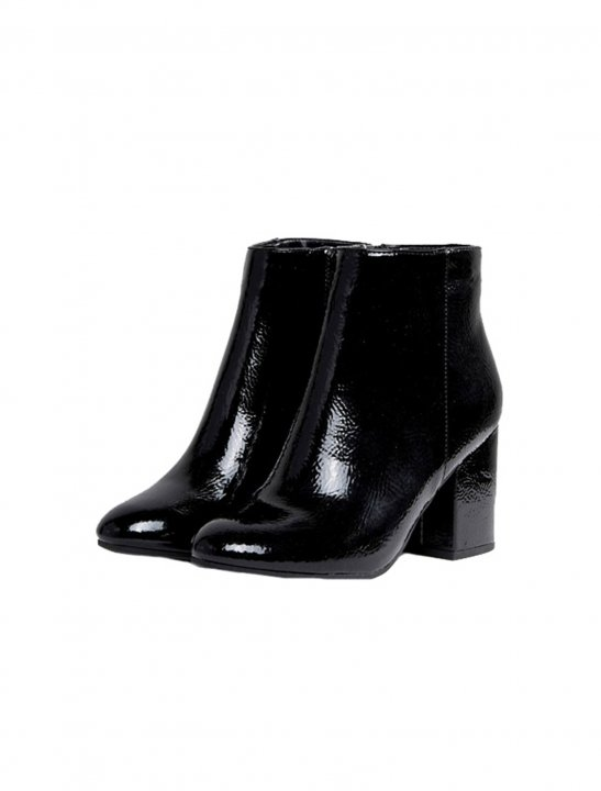 Patent Round Toe Heeled Boot - Bea Miller