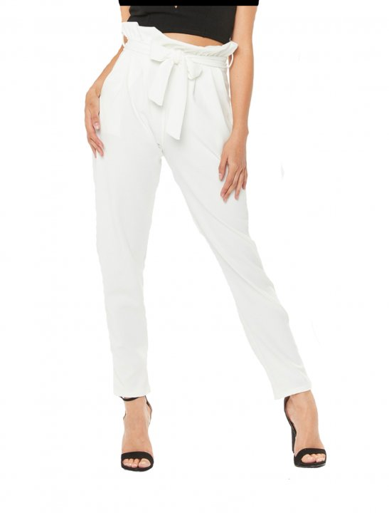 White Paper Bag Trousers - Bea Miller