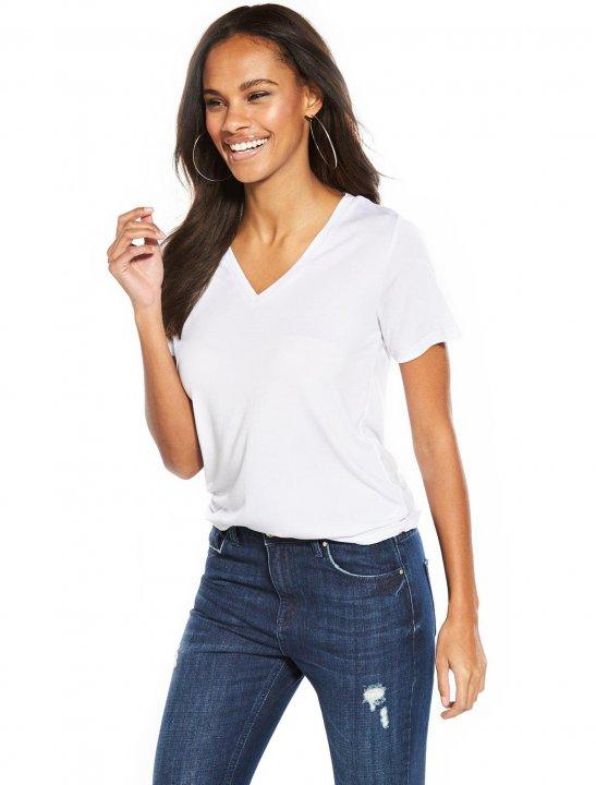 V-Neck Cupro T-Shirt - Bea Miller