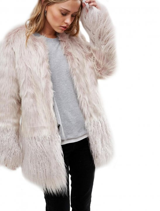 Coat In Mongolian Faux Fur - Bea Miller