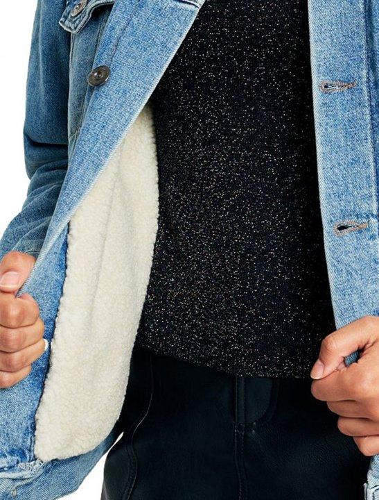 Borg-Lined Denim Jacket Clothing BDG