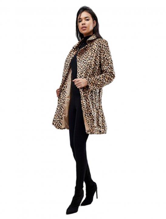 Belted Leopard Coat Clothing Parisian