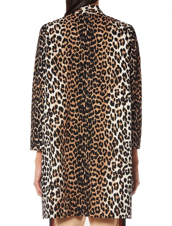 Leopard Print Coat Clothing Ganni