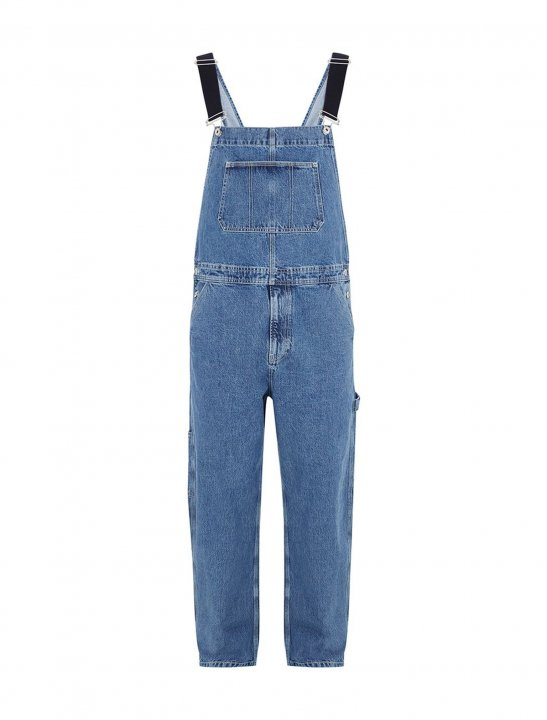 Mid Wash Dungarees Clothing Topman