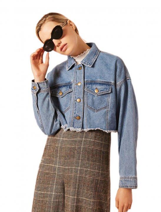 Cropped Denim Jacket - Meghan Trainor