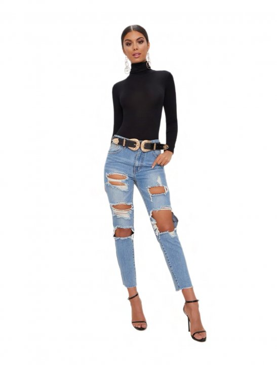 Roll Neck Bodysuit Clothing Pretty Little Thing