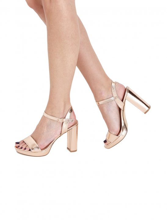 Metallic Platform Sandals Shoes New Look