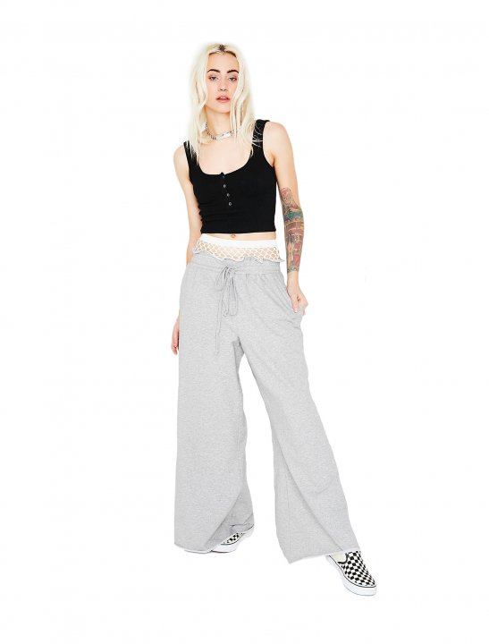 Wide Leg Sweatpants Clothing Dollskill