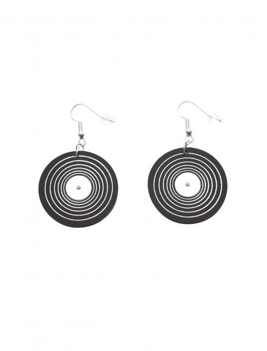 Black Vinyl Record Earrings - Meghan Trainor
