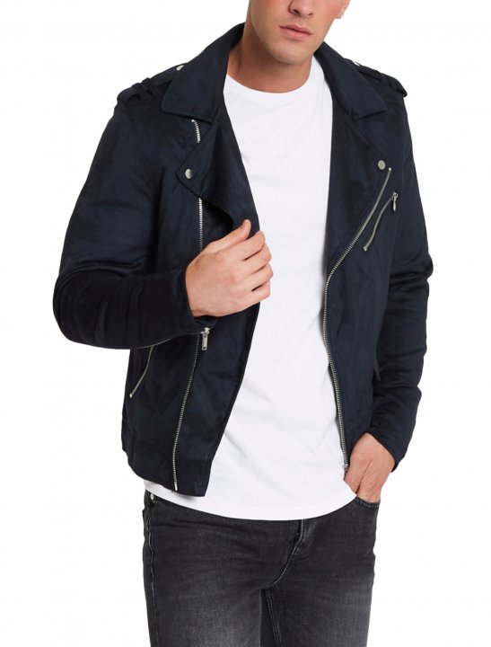 River Island Suede Biker Jacket - Not3s