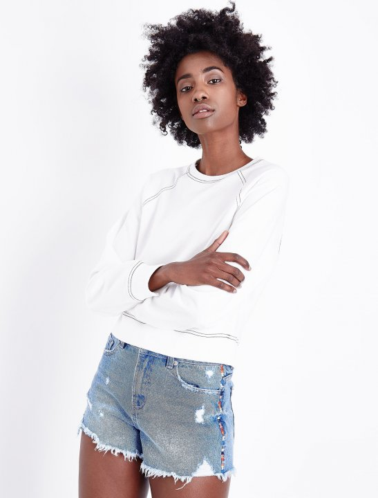 New Look Distressed Denim Shorts Clothing New Look