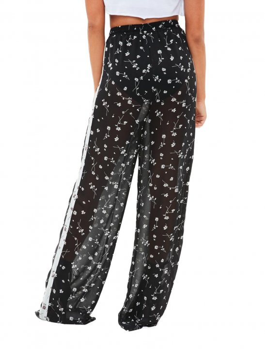 Missguided Sheer Trousers - Louisa Johnson