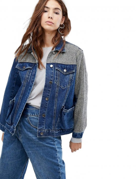 Evidnt Longline Denim Jacket Clothing Evidnt