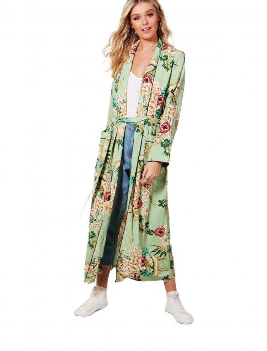 Boohoo Floral Print Kimono - Zayn