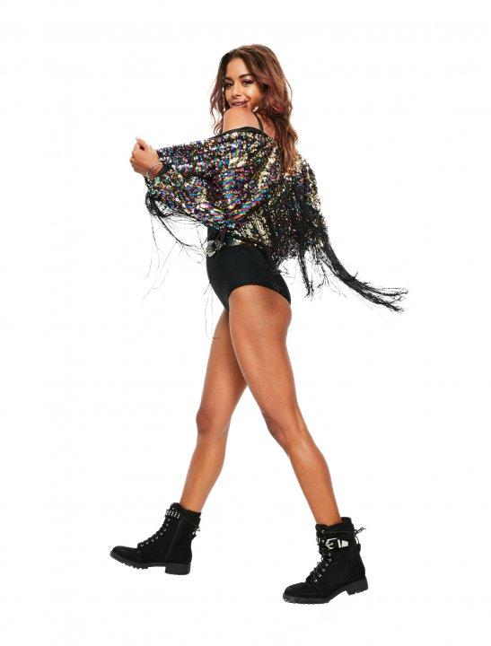 Missguided Sequin Fringe Jacket - Kesha