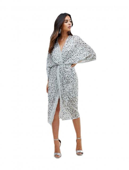 Asos Sequin Kimono Dress - Calvin Harris