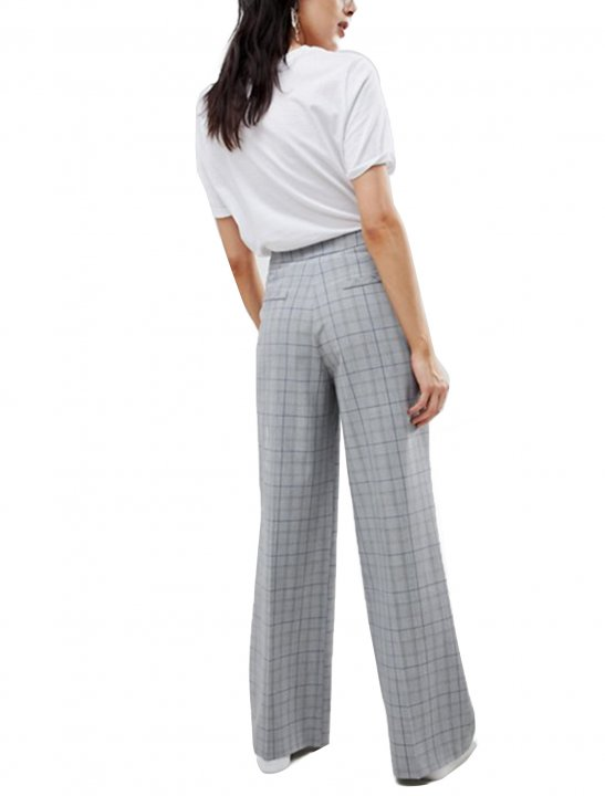 Asos Check Wide Leg Trousers - Christina Aguilera