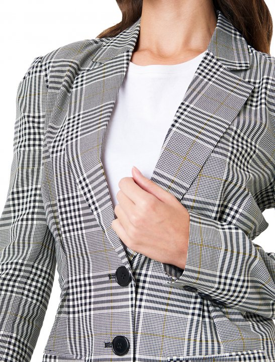 NA-KD Checkered Blazer Clothing Naked