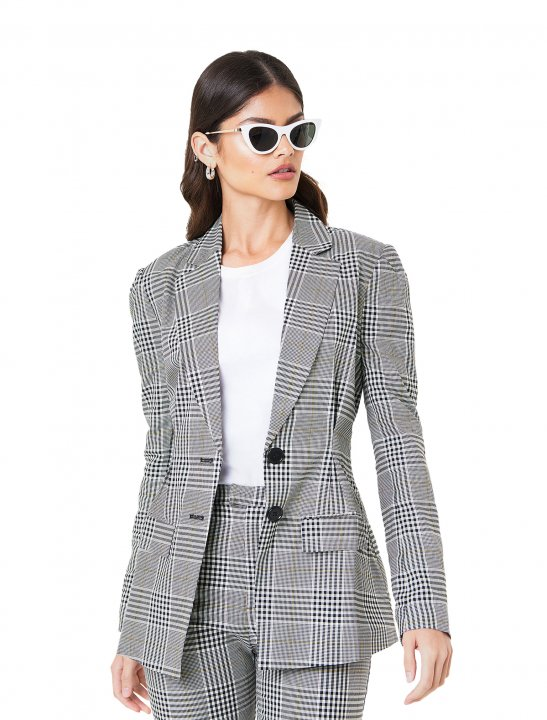 NA-KD Checkered Blazer - Christina Aguilera