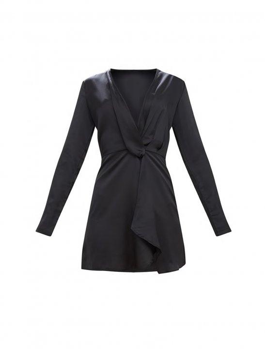 PLT Long Sleeve Wrap Dress - Christina Aguilera