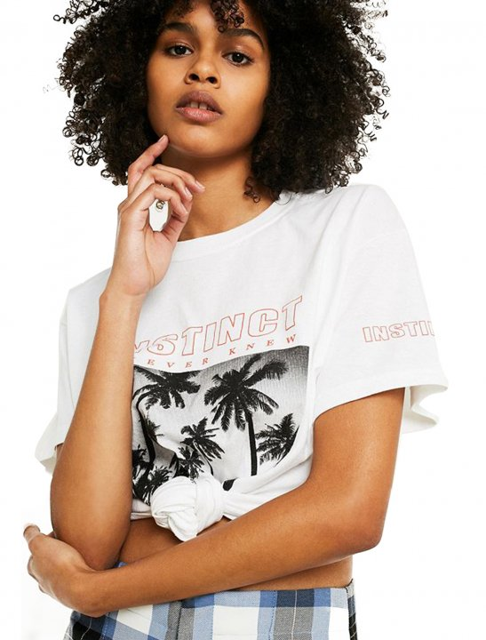 UO Palm Tree T-Shirt - Christina Aguilera
