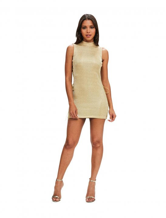 Missguided Bodycon Lace Up Dress Clothing Missguided
