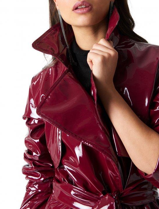 NA-KD Patent Long Jacket Clothing Naked