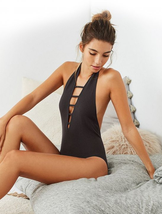 Out From Under Halter Neck Bodysuit Clothing Out From Under