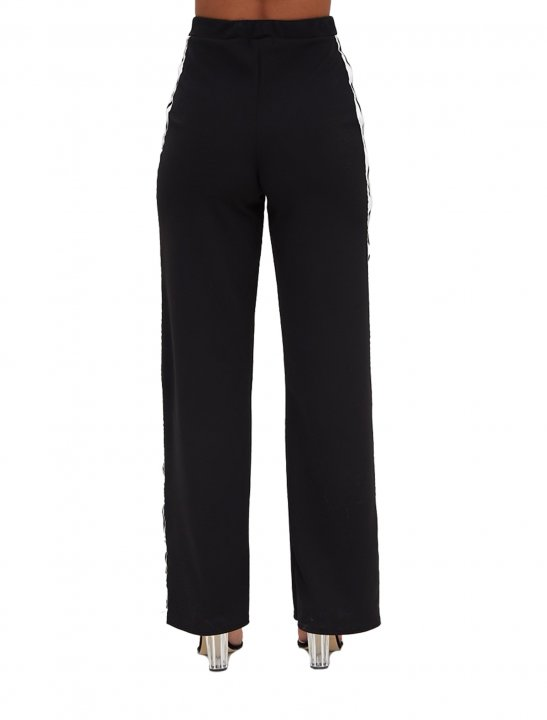 Side Stripe Popper Trousers Clothing Pretty Little Thing