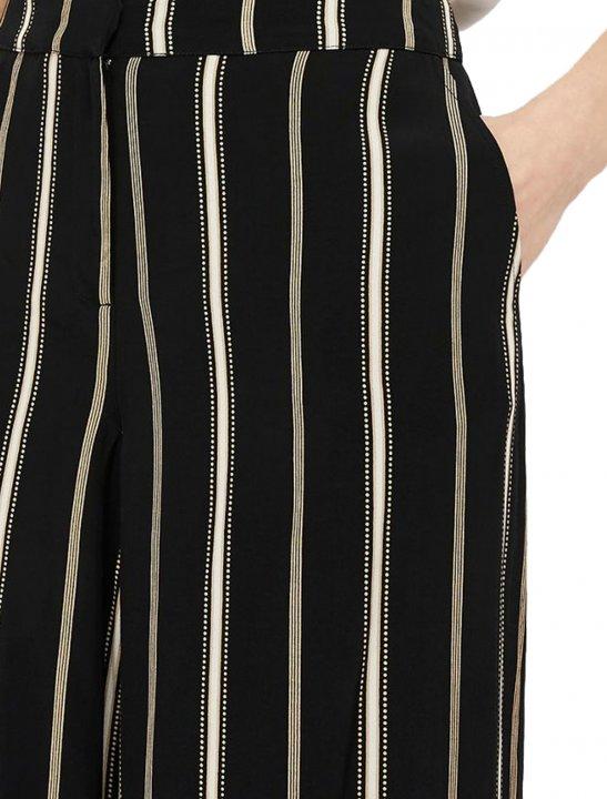 Black Stripe Crop Trousers Clothing Monsoon