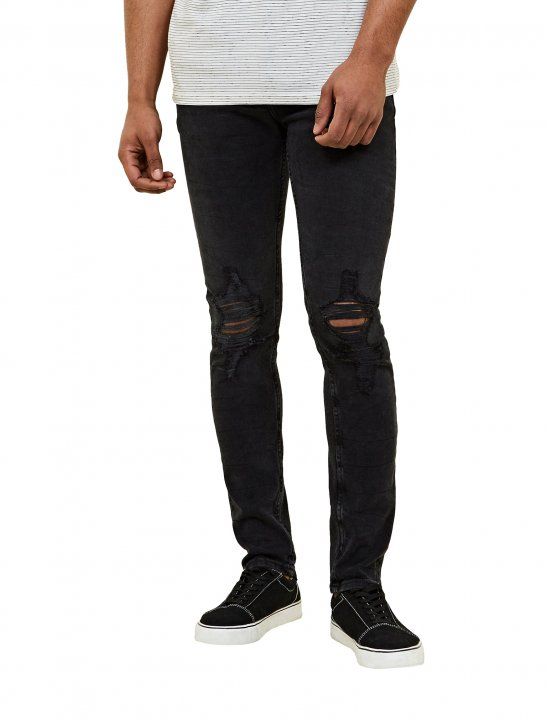 New Look Washed Ripped Jeans - Lethal Bizzle