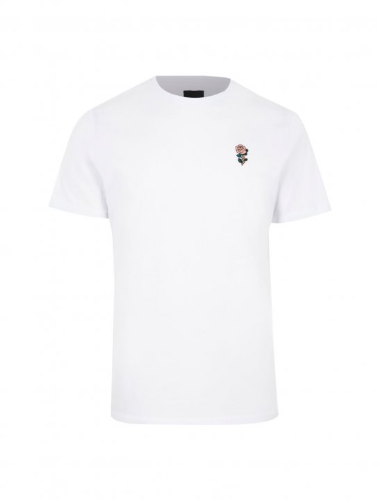 River Island Rose Embroidery Tee - Lethal Bizzle