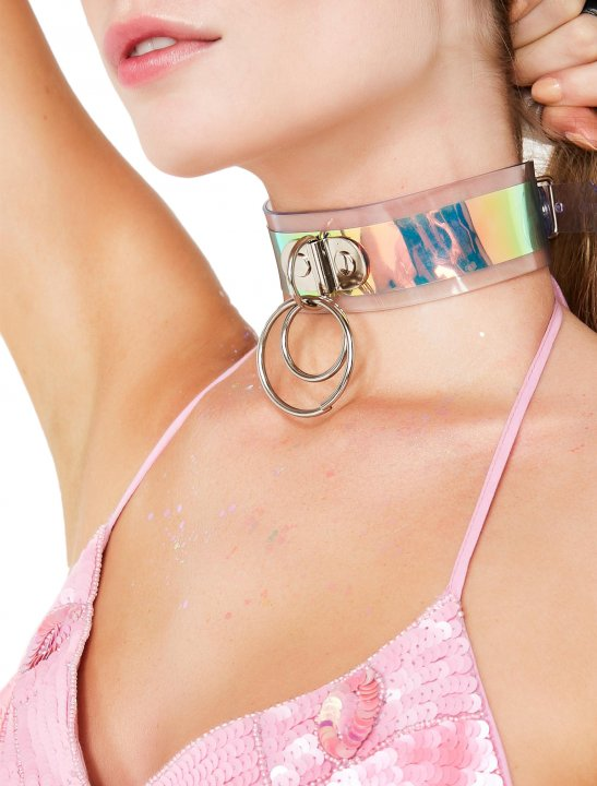 Stela Cole's Holographic Choker Clothing Apatico