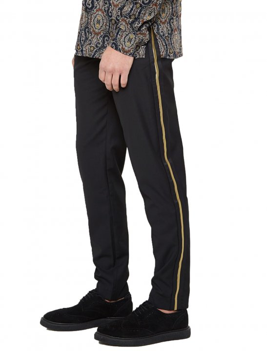 """MDV Trousers With Taping {""""id"""":5,""""product_section_id"""":1,""""name"""":""""Clothing"""",""""order"""":5} Maniere De Voir"""