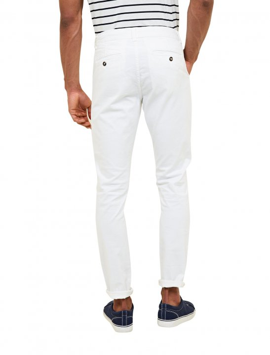 """New Look White Slim Fit Chinos {""""id"""":5,""""product_section_id"""":1,""""name"""":""""Clothing"""",""""order"""":5} New Look"""
