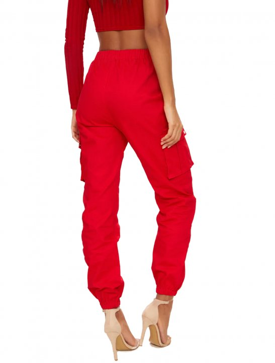 """Red Cargo Trousers {""""id"""":5,""""product_section_id"""":1,""""name"""":""""Clothing"""",""""order"""":5} Pretty Little Thing"""
