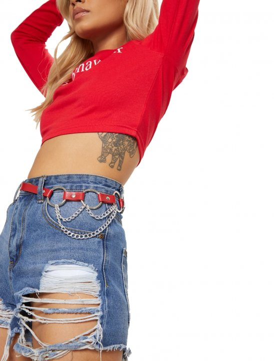 """PLT Red Waist Belt {""""id"""":16,""""product_section_id"""":1,""""name"""":""""Accessories"""",""""order"""":15} PLT"""