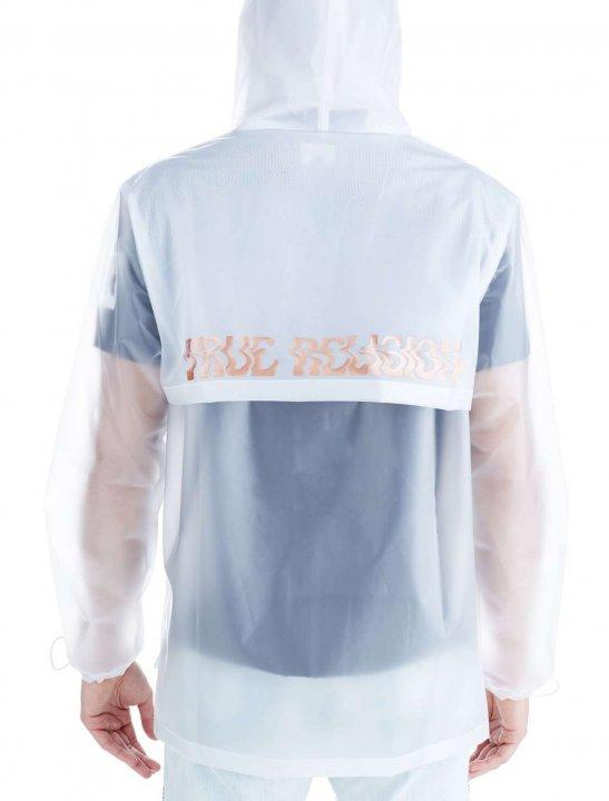 "True Religion Translucent Rain Jacket {""id"":5,""product_section_id"":1,""name"":""Clothing"",""order"":5} True Religion"