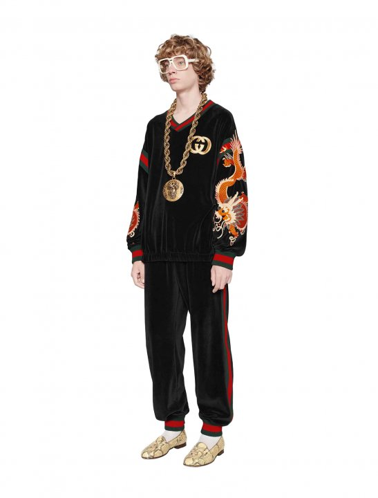 French Montana's Sweatshirt Clothing Gucci-Dapper Dan